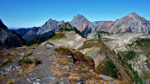 The true summit of Yellow Aster Butte