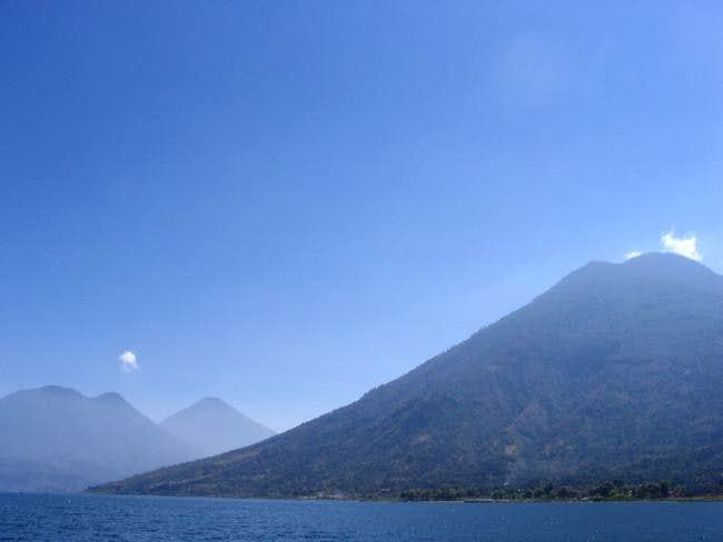 View from the kayak of Volcan...