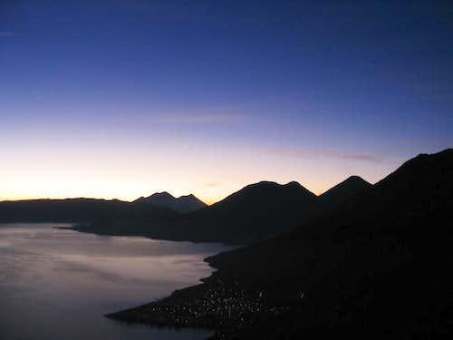 View of Lago de Atitlan and...