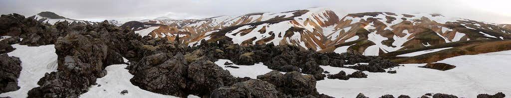 mountains around Landmannalaugar