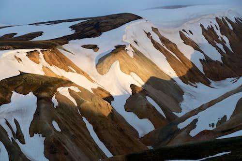 colorful rhyolite mountains around Landmannalaugar