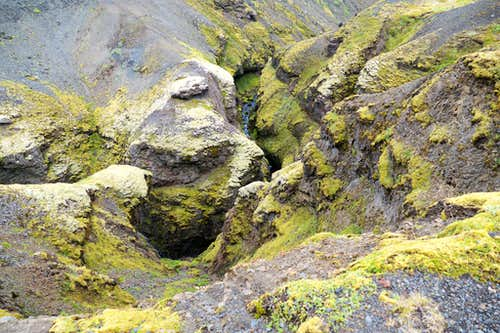 rock formations along the canyon
