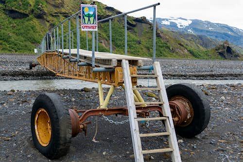 mobile bridge in Thorsmork