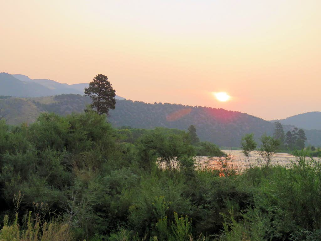 Sunrise at Little Hole Trailhead