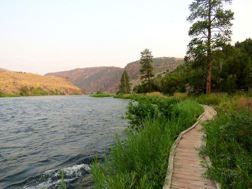 Boardwalk on the trail
