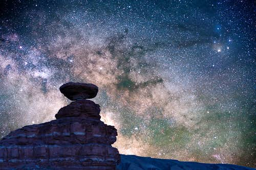 Milky Way core and Mexican Hat