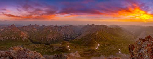 Sunrise from the summit of Uncompahgre Peak