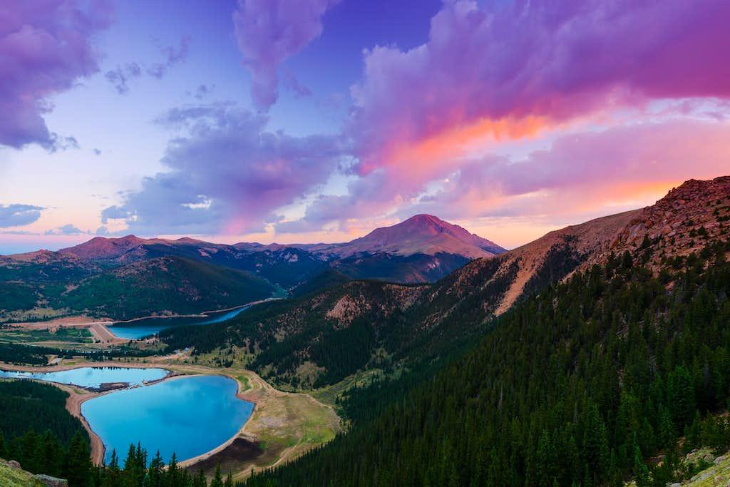 Sunrise from Almagre Peak