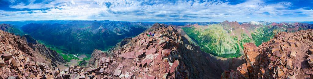 Panorama from Pyramid Peak
