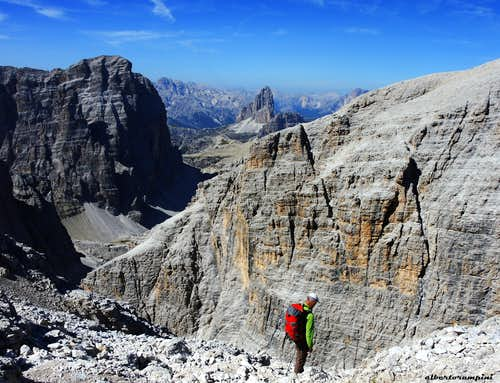 Croda dei Toni with Busa di Dentro and Tre Cime di Lavaredo