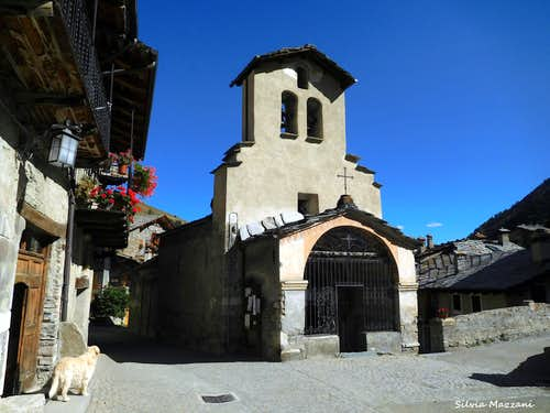 The traditional old village of Chianale