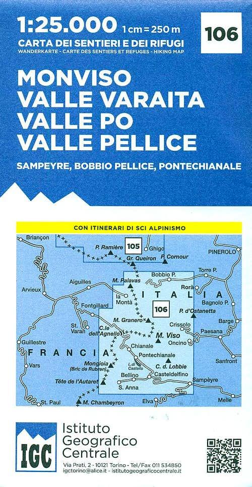 Monviso Valle Varaita-Po-Pellice IGC  map