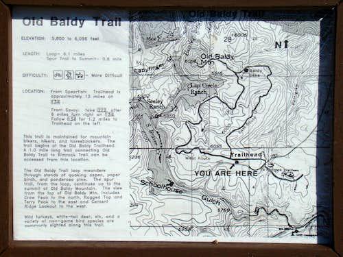 Old Baldy Trailhead Info