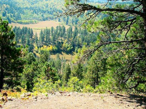 View down to Mathews Ranch