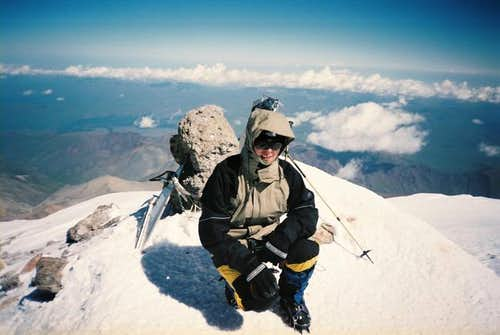 On the top of the Mont Elbrus