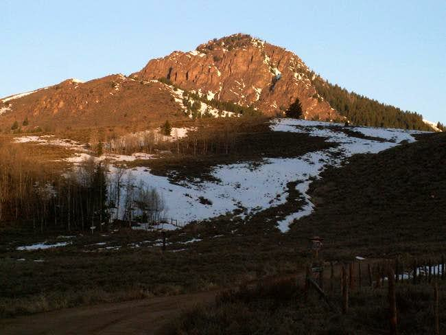 Mahoney Butte with morning's...