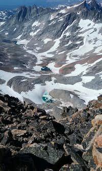 view south from below Granite Peak