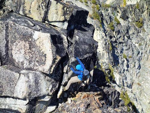 The 5.7 boulder problem on the traverse to Hoodoo