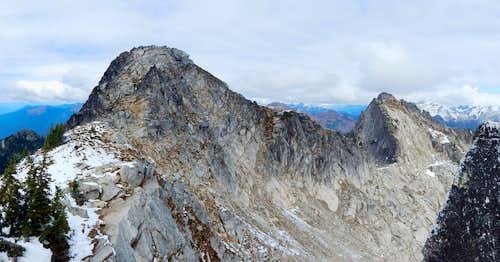 Sulphur Mountain and Point 7140 'Kaiwhat Peak'