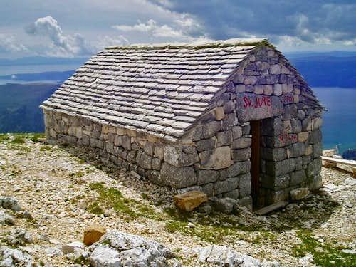 chapel of sv. jure on summit...