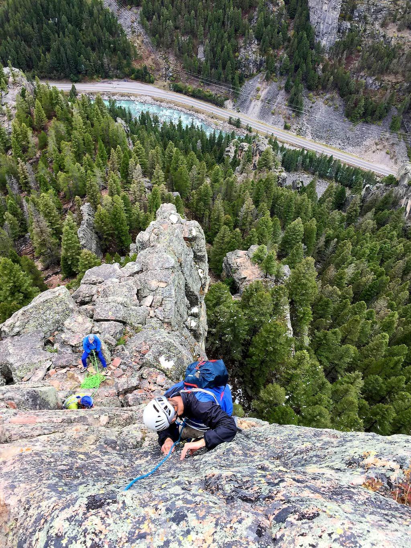 Climbing in the Gallatin Range