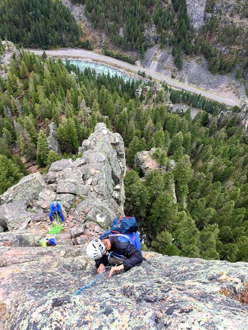 Climbing in the Gallatin Range