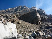 Start of the skree climb
