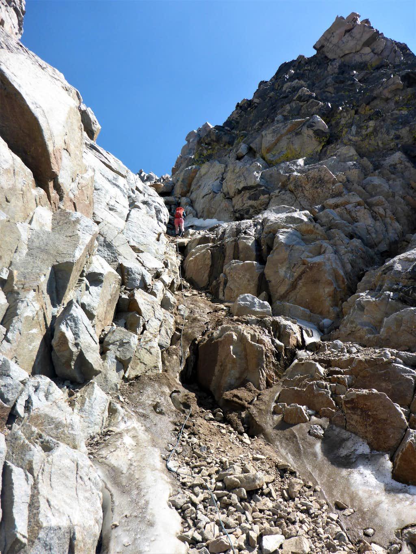 Granite Peak - Descending The Crux