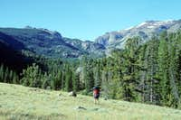 Backpacking into Shoshone National Forest