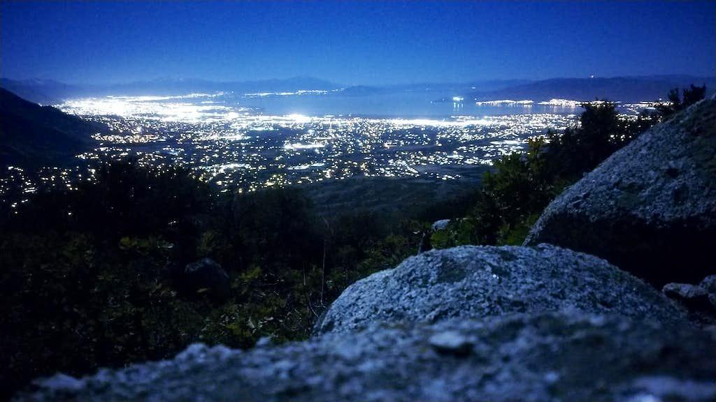 A first nighttime shot in the Lone Peak Wilderness