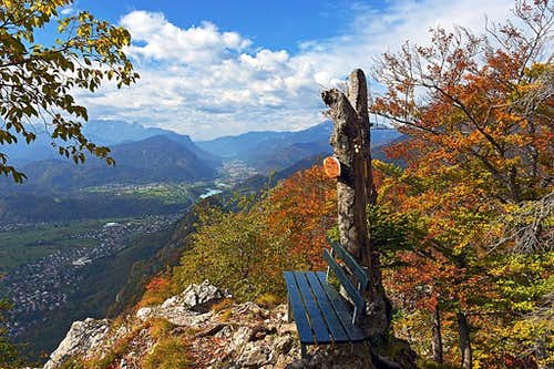 The bench with a view