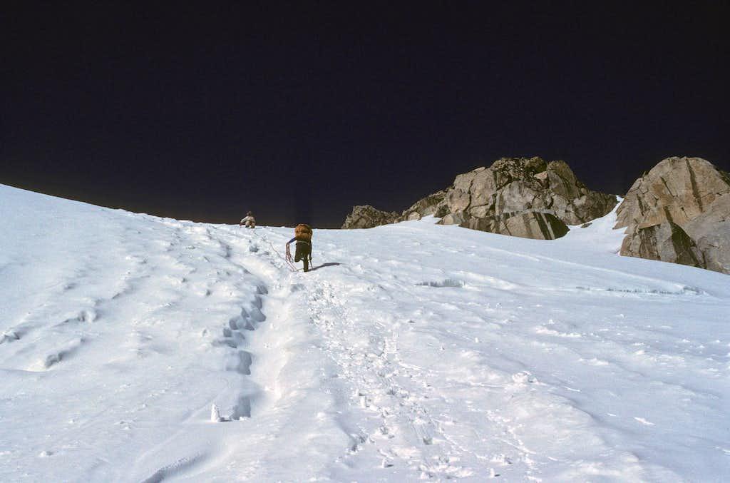 Climbing the Gooseneck Glacier