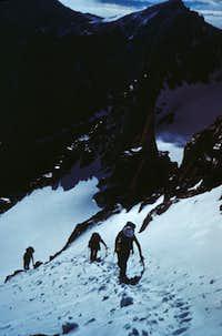Topping the Gooseneck Glacier