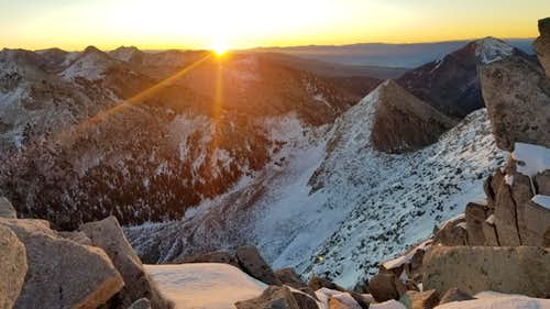 Sunrise near the Lone Peak summit on October 7, 2017.