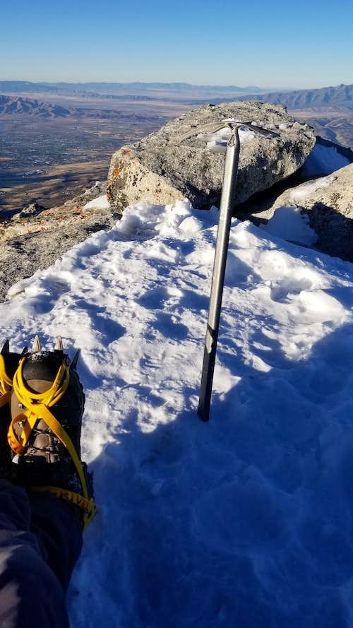 On the Lone Peak summit!