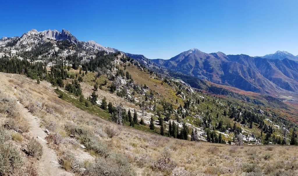 Departure of Lone Peak on a warming October Saturday