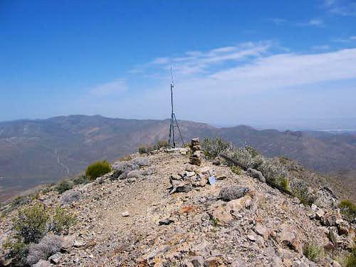 The summit area of Gass Peak....