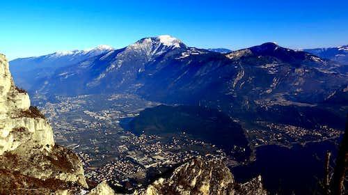 Monte Stivo and Northern Garda Lake seen from Cima Rocca