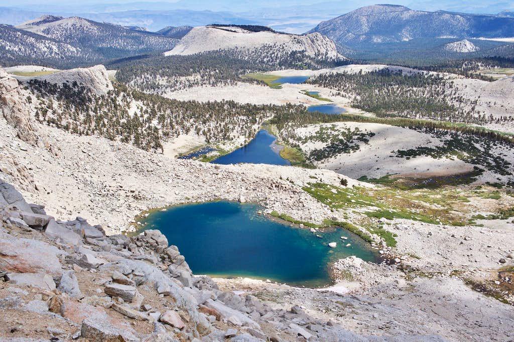Cottonwood Lakes Elevation : Miles backpacking and summiting mount langley via