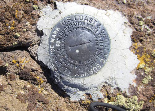 Summit marker for Desatoya