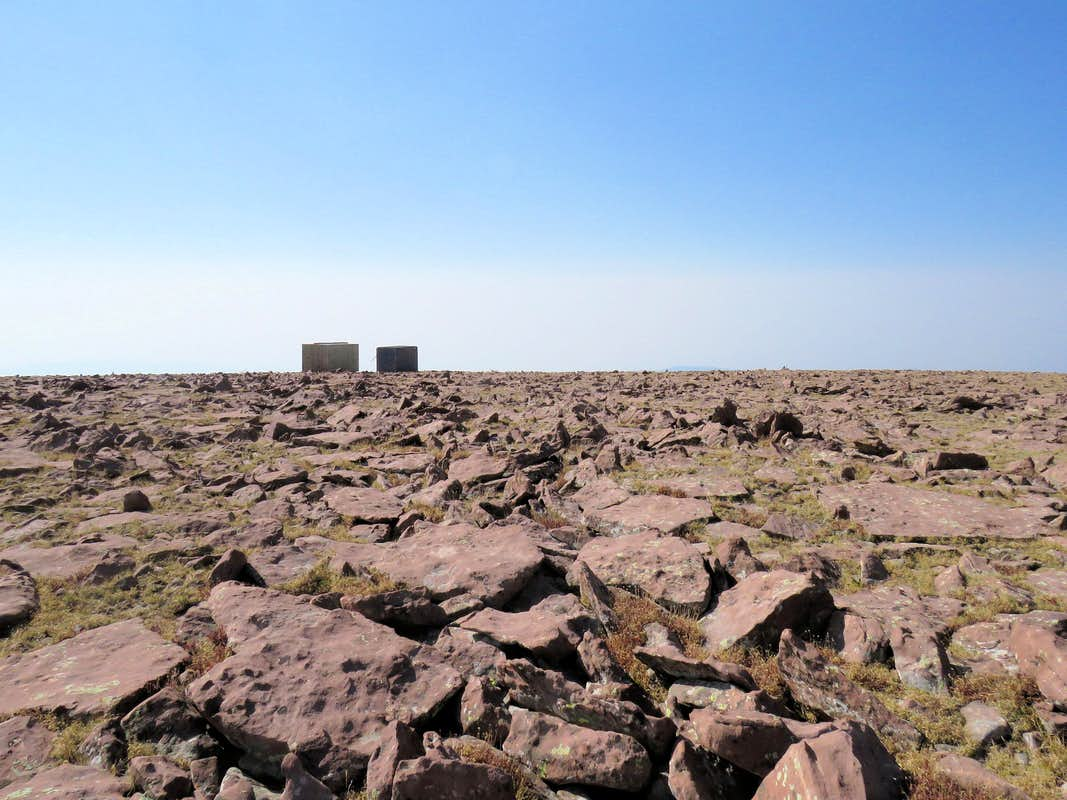 Structures on the summit of Marsh Peak