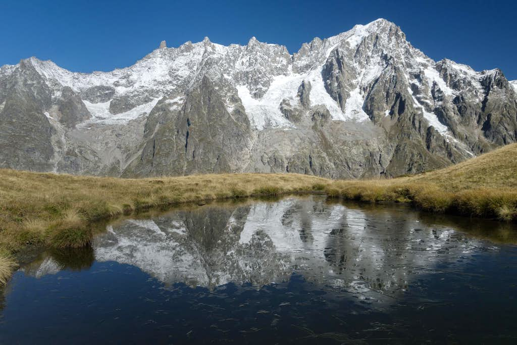 The Rochefort Ridge together with Dent du Géant and Grandes Jorasses