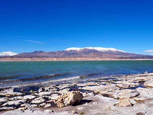 Falso Azufre rising over Laguna Verde