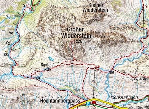 Grosser Widderstein map
