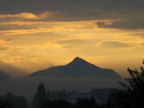 Le Mole sunrise from distance...