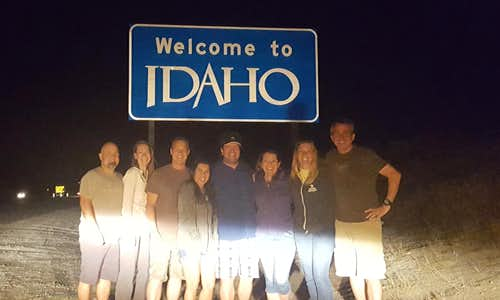 Crossing into Idaho around 1am