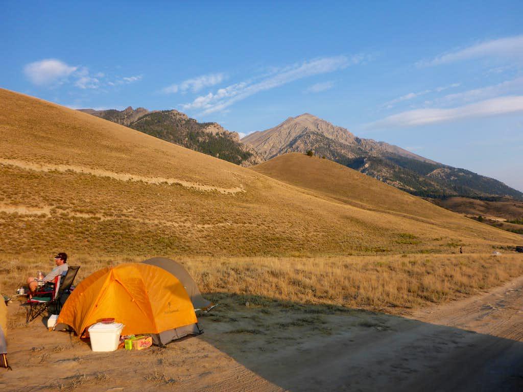 Camp along road