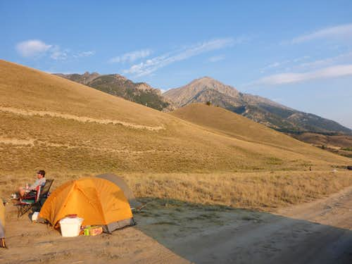 Camp along road