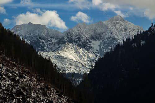 Mount Ladovy over Javorina