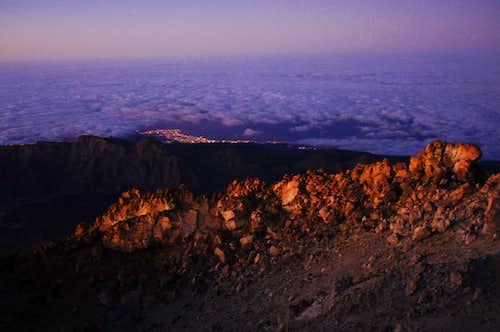 Dawn on Teide summit
